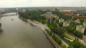 City Panorama Wroclaw stock footage