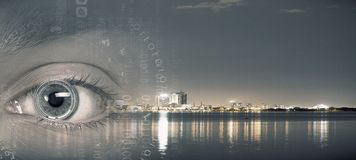City panoramic view Royalty Free Stock Images