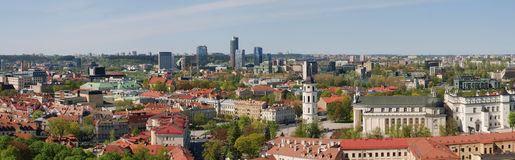 City panoramic view - old and new Vilnius Royalty Free Stock Photos