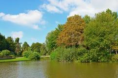 City Parc In Center Of Wemmel, Belgium Royalty Free Stock Images