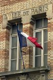 City of Paris. The flag and inscription say it all Stock Photo