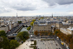 City of Paris from High Up Stock Photo