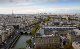 City of Paris from High Up Royalty Free Stock Photography