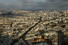 City of Paris from Montparnasse tower. City of Paris, to the top of the tower Montparnasse Stock Photo