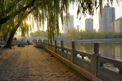 City park. The scenery of Yinze park in Taiyuan, Shanxi, China Stock Photos