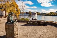 City Park at autumn Stock Photography