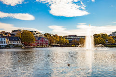 City Park at autumn Royalty Free Stock Image