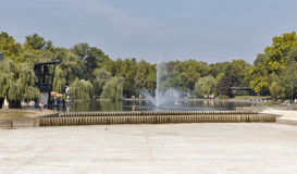City Park in Budapest, Hungary. Stock Images