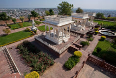 City park with cenotaphs Stock Photography