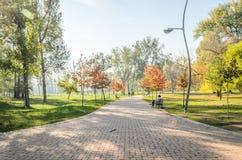 City Park. Novi Sad in autumn colors Stock Images