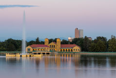 City Park in Denver with boathouse Ferril Lake Stock Photos