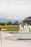 City park with fountain. ZAGREB, CROATIA - April 12, 2014 - City park with fountains, Bandiceve fountains Stock Photos