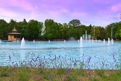 City park fountains-Plovdiv,Bulgaria Stock Photography