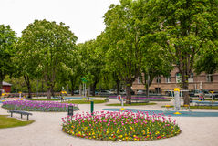 City park with gym equipment. Zagreb, Croatia Stock Photo