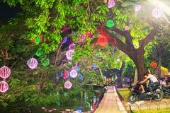 City park. Hanoi. Ngoc Son Temple park in Hanoi, Vietnam royalty free stock photo