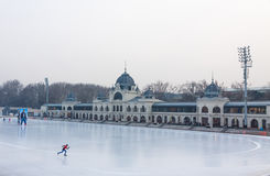 City Park Ice Rink in Budapest, Hungary Royalty Free Stock Photography