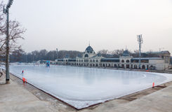 City Park Ice Rink in Budapest, Hungary Stock Photos