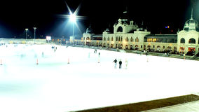 Ice Rink in Budapest Royalty Free Stock Photo