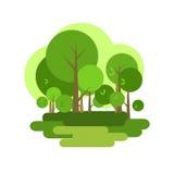 City Park illustration Royalty Free Stock Image