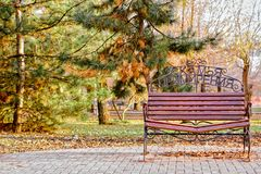 Bench of reconciliation in the Park Stock Images