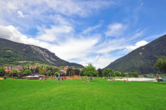 City park in Italy Royalty Free Stock Images