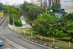 City park in jakarta indonesia. City park in middle of street java jakarta indonesia Royalty Free Stock Photo