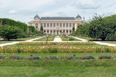 City park Jardin des Plants with natural history museum in Paris Royalty Free Stock Photo