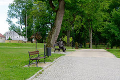 City park. KOSZECIN, POLAND - August 05, 2017 City park Royalty Free Stock Photo