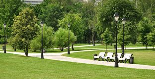 City park in Moscow Royalty Free Stock Photography