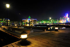 The city park at night Royalty Free Stock Photo