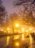 City park at night Royalty Free Stock Photography