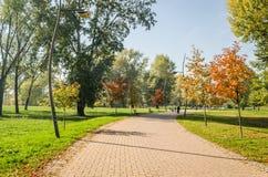 City Park. Novi Sad in autumn colors Royalty Free Stock Photo