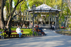 City park in Odessa, Ukraine Royalty Free Stock Photo