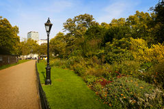 City park. With old lamp royalty free stock image