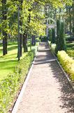 City park, with a path Royalty Free Stock Photos