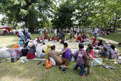 City park. Residents traveled in a city park in the city of Solo, Central Java, Indonesia Stock Images
