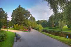 City park in Riga, Latvia. Royalty Free Stock Photo