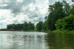 City Park in the Russian city of Obninsk of the Kaluga region. Royalty Free Stock Images