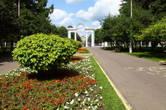 City park in summer day Royalty Free Stock Image