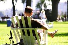 City park sunday Stock Photos