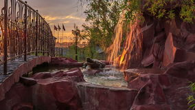 City Park at sunset stock video footage