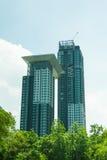 City park under blue sky Royalty Free Stock Image