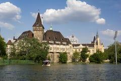 The City Park Városliget and Vajdahunyad Castle, Budapest, Hungary stock photo