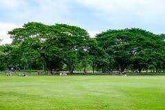 City park. At Vachirabenjatas Park (Rot Fai Park) Bangkok, Thailand Stock Images