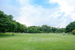 City park. At Vachirabenjatas Park (Rot Fai Park) Bangkok, Thailand Stock Photo