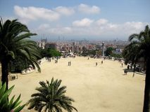 City park view. For the best view in Barcelona Stock Photography