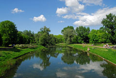 City park in Warsaw. Summertime. Royalty Free Stock Photos