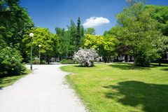 City park in Zagreb Royalty Free Stock Photos