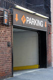 City Parking Garage. Entrance to a parking garage in the city royalty free stock photo