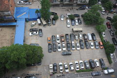 The city parking lot Royalty Free Stock Photo